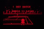 Virtual Boy Screenshot - Mario's Tennis gameplay