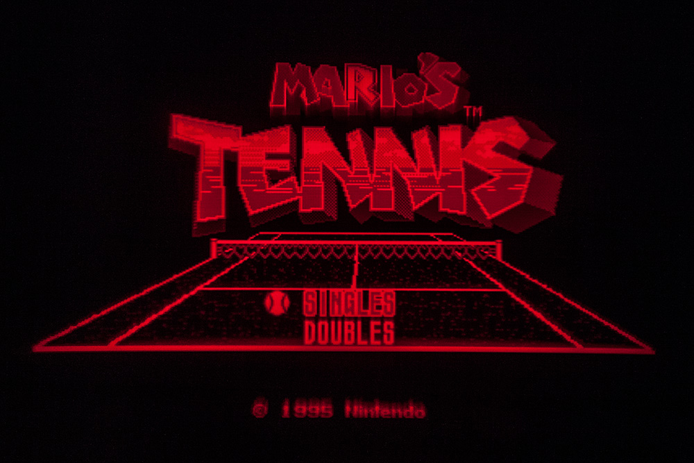 Virtual Boy Screenshot - Mario's Tennis