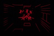 Virtual Boy Screenshot - Red Alarm gameplay
