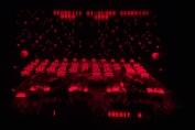 Virtual Boy Screenshot - Space Invaders 3D gameplay