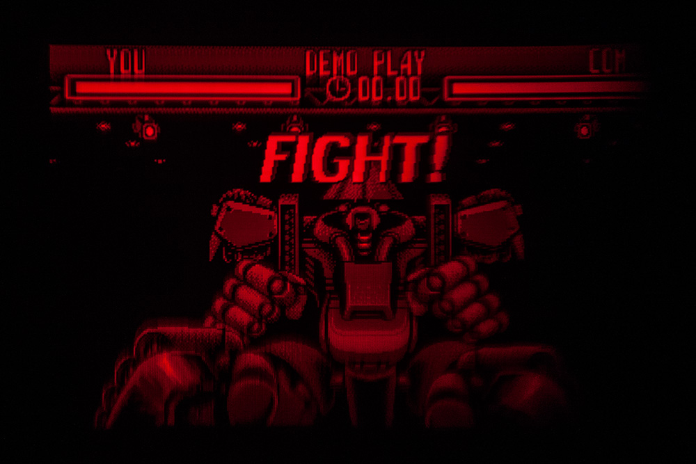 Virtual Boy Screenshot - Teleroboxer gameplay