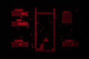 Virtual Boy Screenshot - V-Tetris gameplay
