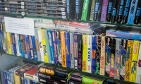 Boxed NES games at Backlist Halmstad