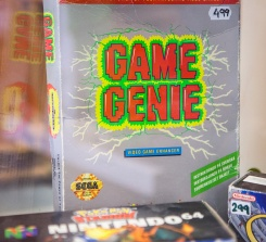 Boxed Game Genie at Backlist Halmstad