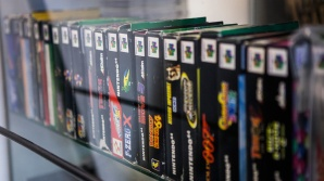 Boxed N64 games at Backlist Halmstad