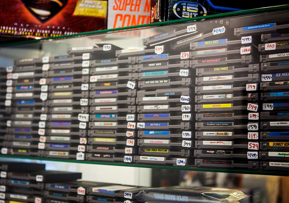 NES games at Backlist Halmstad