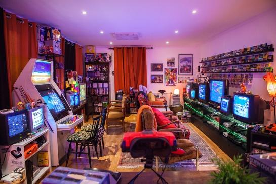 Retro Game Room Setup
