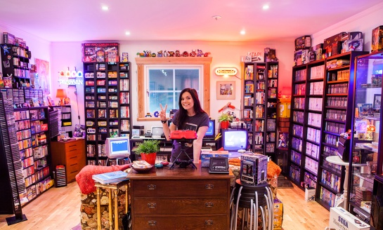 Me in my retro game room