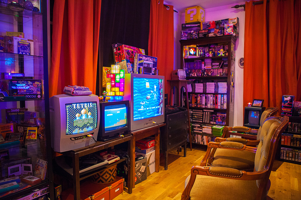 Heidi StopXwhisperings Retro Game Room Setup Video Gaming