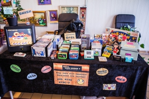 My table at Retrospelsfestivalen 2015