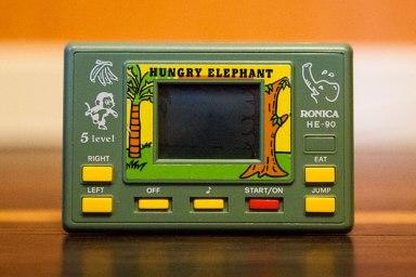 Hungry Elephant handheld game