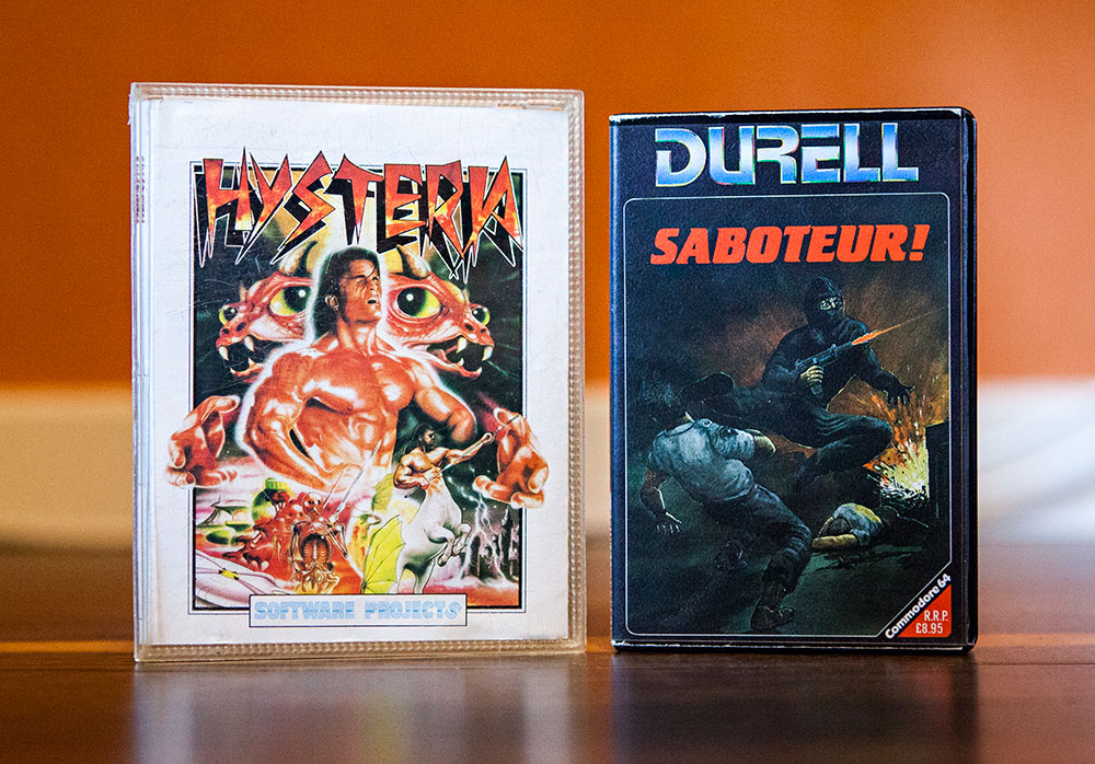 Hysteria & Saboteur! - C64