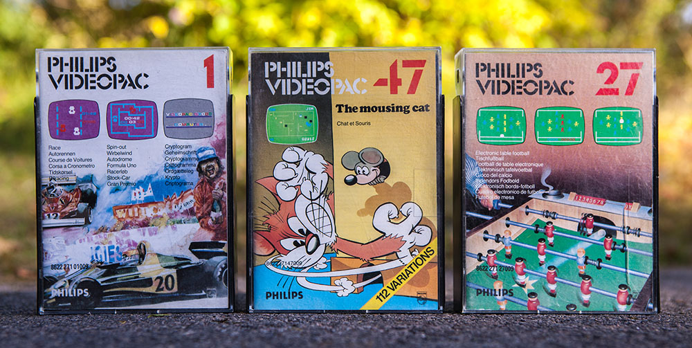 Philips Videopac Computer G7000 games 1, 47 and 27