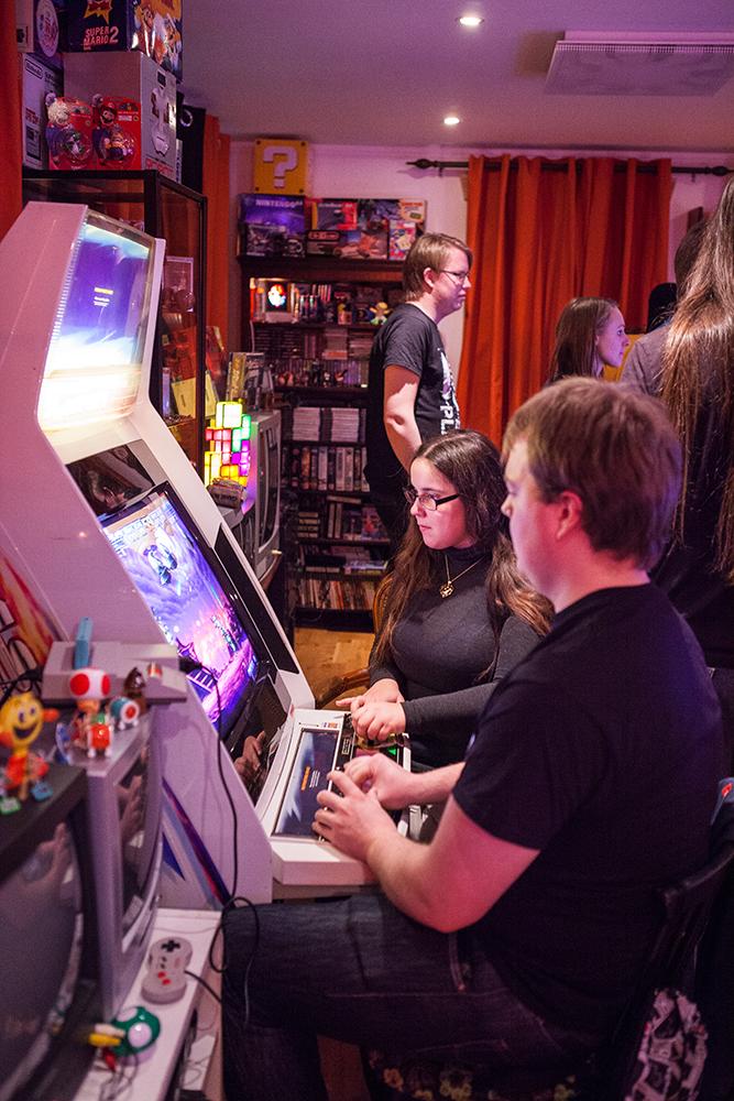 Playing arcade at Retro Rumble 2016