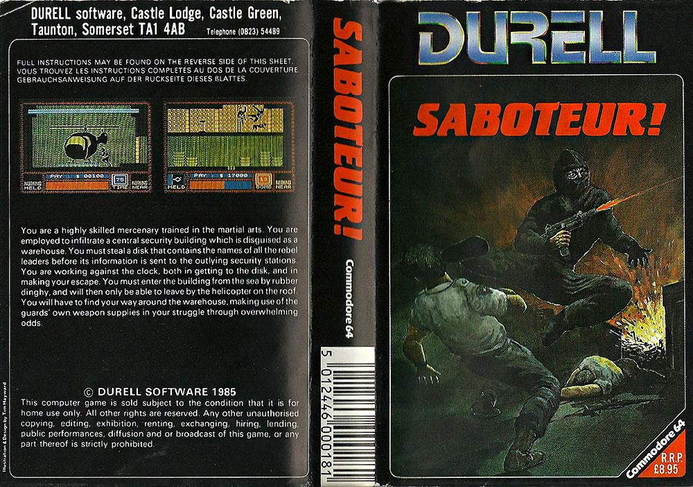 C64 Saboteur Retro Video Gaming