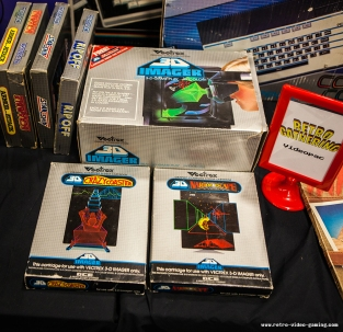 Vectrex 3D Imager with games for sale at Retro Gathering