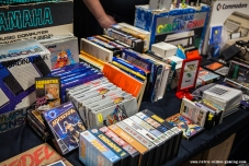 Vintage computer games for sale at Retro Gathering