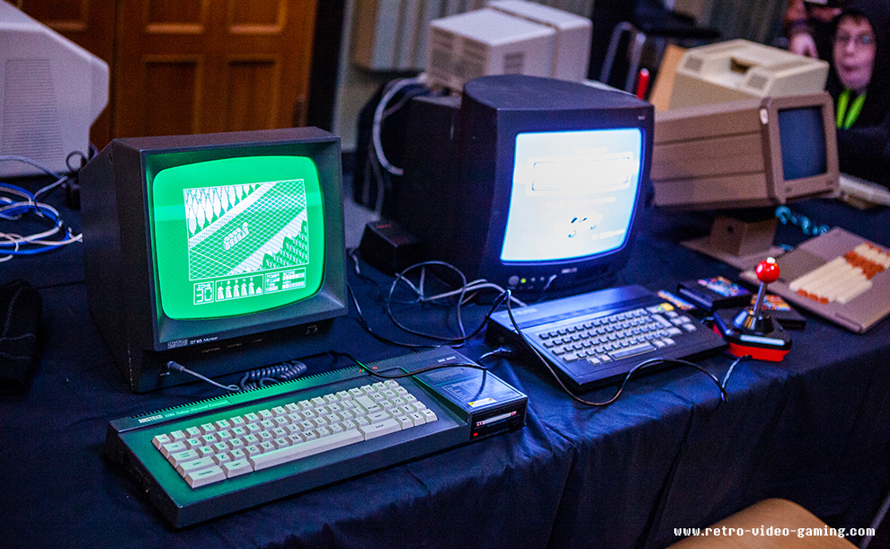 Vintage computers setup to play at Retro Gathering