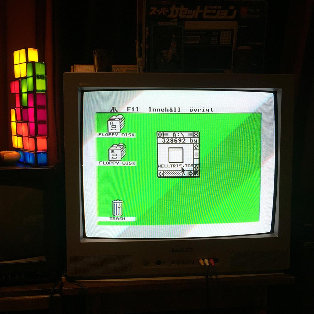 Atari ST desktop in color