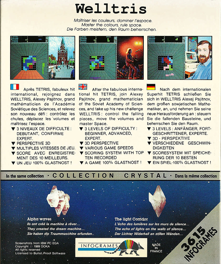 Atari ST - Welltris back
