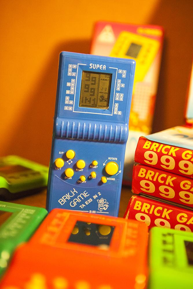 Brick Game 9999 in 1 blue mini super mouse