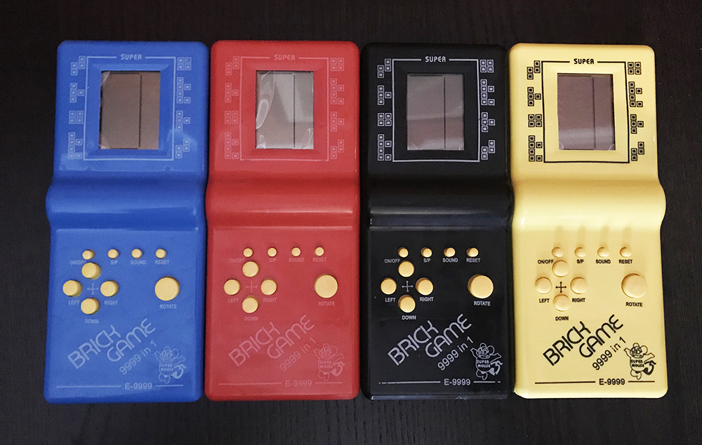 Brick Game 9999 in 1 various colours
