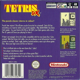 GBC - Tetris DX back