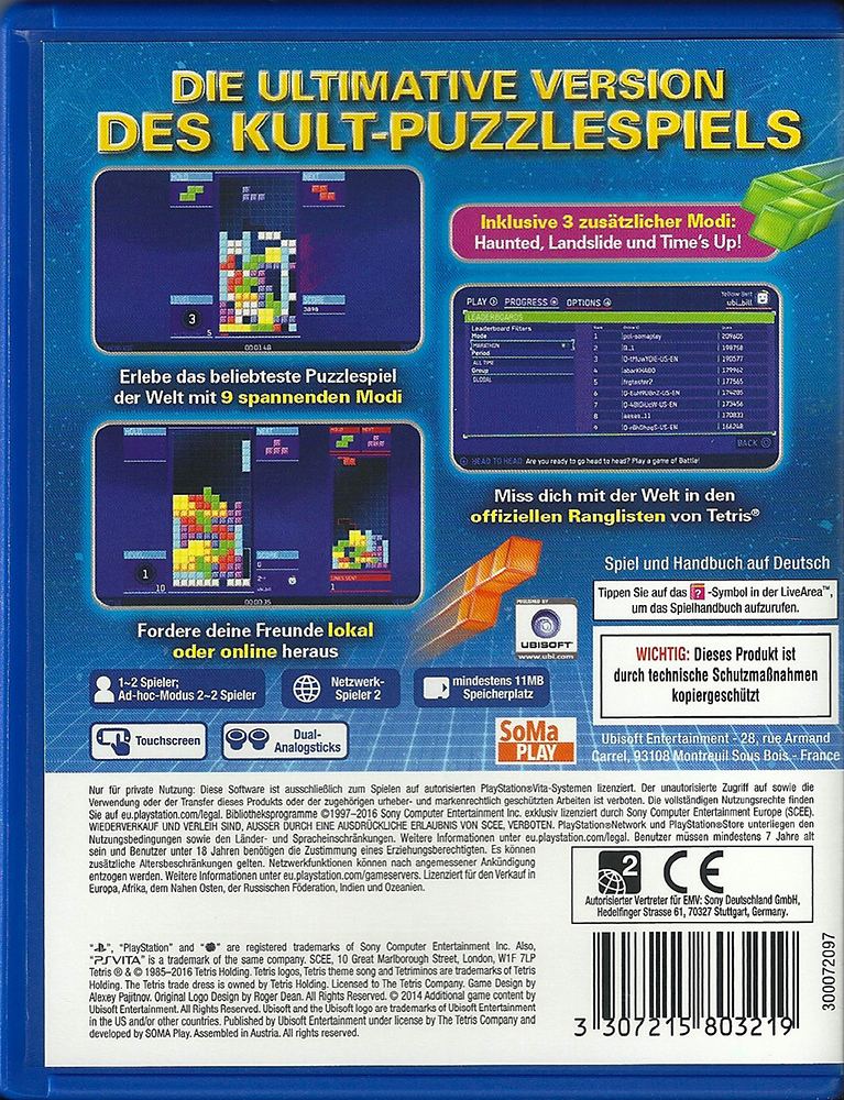 PSV - Tetris Ultimate back