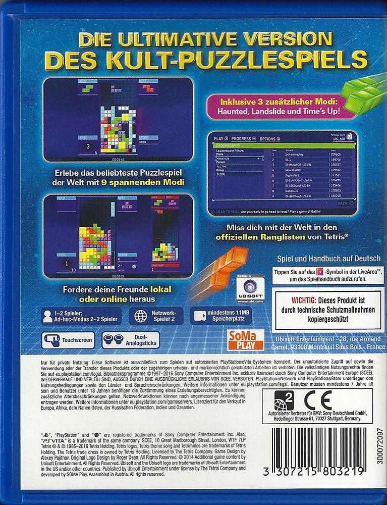 PSV - Tetris Ultimate back