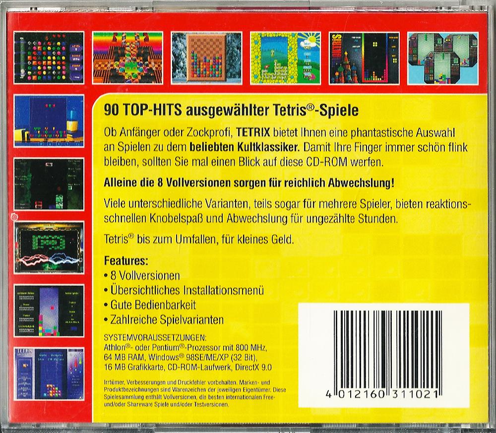 Tetrix PC back | Retro Video Gaming