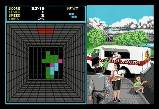 Welltris on Atari ST - Stage 2