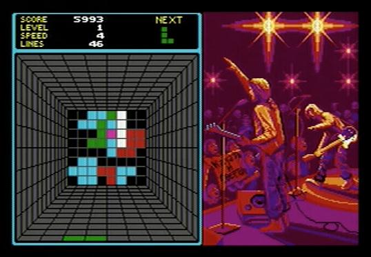 Welltris on Atari ST - Stage 4
