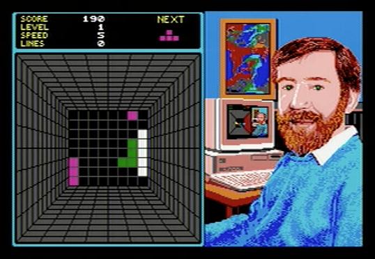 Welltris on Atari ST - Stage 5