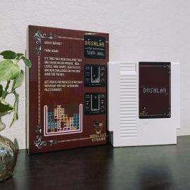 White NES cartrdige Dushlan Tetris