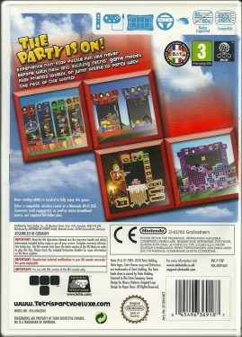 Wii - Tetris Party Deluxe back