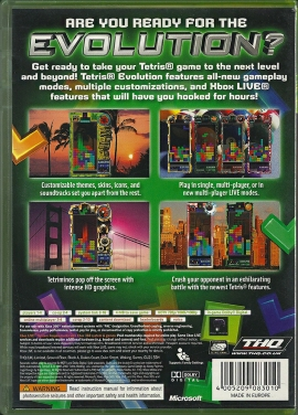 Xbox 360 - Tetris Evolution back