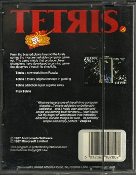ZX Spectrum - Tetris back