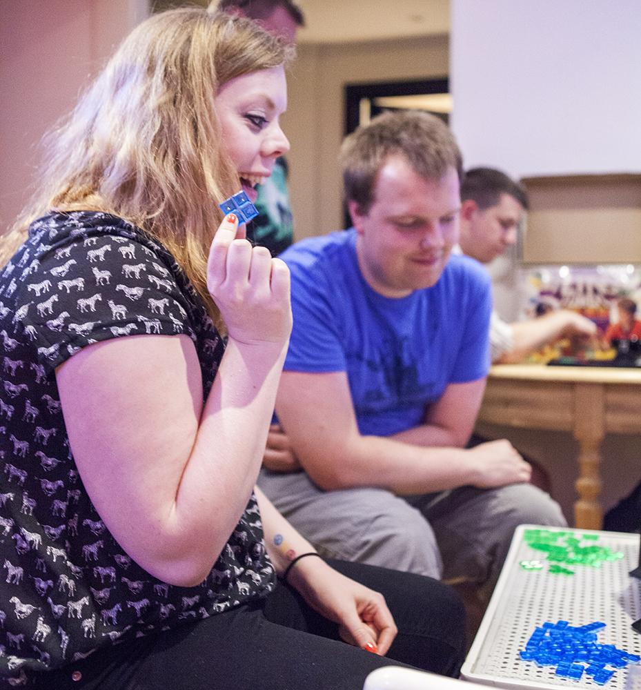 Becki playing Tetris Link