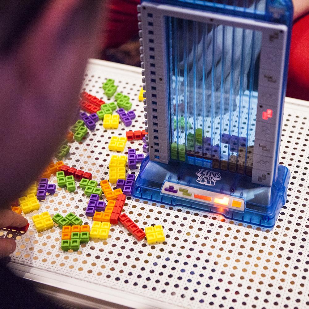 Tetris 3D Tower closeup