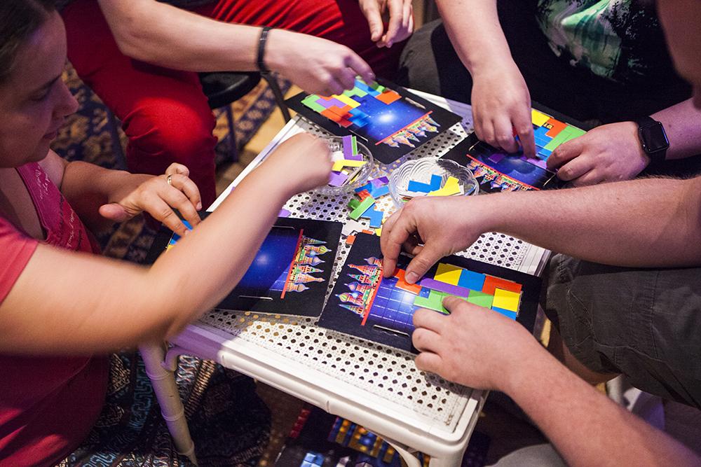 Tetris 4 player board game