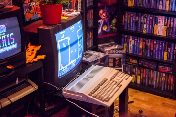 Twintris on Amiga 500