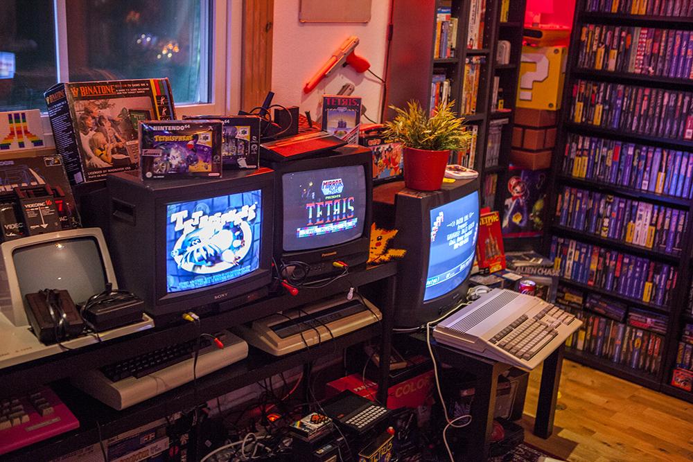 Twintris on Amiga and Tetris on ZX Spectrum