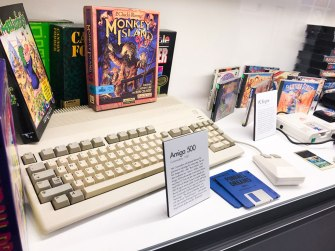 Amiga 500 on display at Stockholms Gaming museum