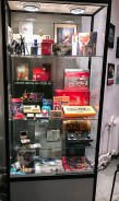 Games and consoles on display at Stockholms Gaming museum
