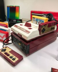 Famicom on display at Stockholms Gaming museum