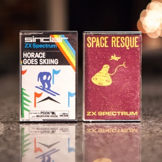 Horace goes skiing and Space Resque - ZX Spectrum