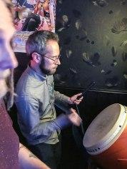 Martin playing Taiko no Tatsujin