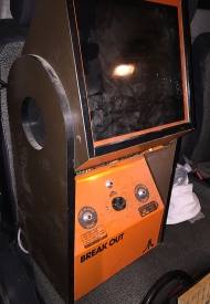 Old orange Break Out arcade from Atari