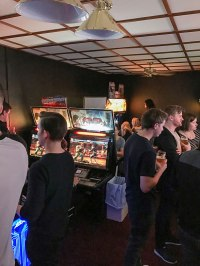 One of the two rooms at HEY arcade Stockholm