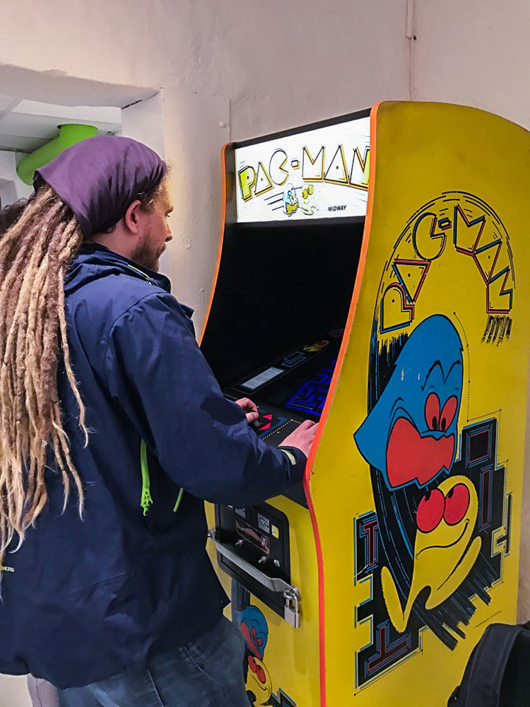 Pacman Arcade at Stockholm's game museum